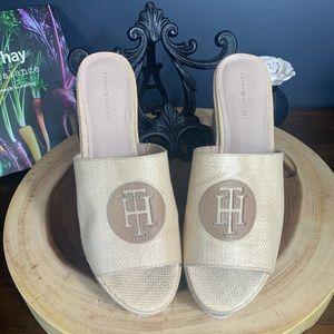 Tommy Hilfiger Natural Seagrass platform sandals